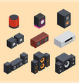 home isometric sound system stereo acoustic 3d vector image vector image