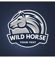 Horse emblem logo vector image vector image
