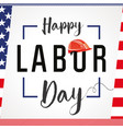 labor day card usa vector image vector image