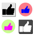 like flat icon vector image