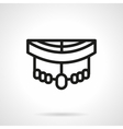 Longboard pars black simple line style icon vector image vector image