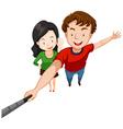 Love couple taking selfie vector image vector image