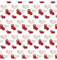 Love Heart background pattern vector image vector image