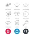 Manual gearbox tire service and car key icons vector image vector image
