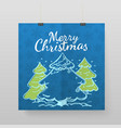 merry christmas greeting card template for vector image