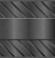 metal background dark steel texture vector image