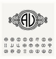 modern emblem badge template luxury elegant vector image vector image