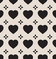 Monochrome seamless pattern with hearts vector image vector image