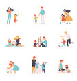 parents and their children spending good time vector image vector image