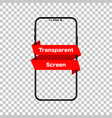phone mockup isolated screen phone transparent vector image vector image
