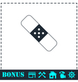 Plaster icon flat vector image vector image