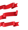 red ribbon big set isolated vector image vector image