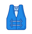 safety jacket line icon vector image