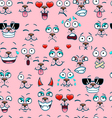 Seamless pattern with different emotions vector image vector image