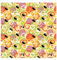 Seamless pizza pattern vector image vector image