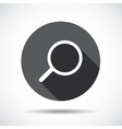Search Flat Icon with long Shadow vector image