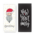 set of hand drawn christmas party and new year vector image vector image
