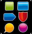 set six glossy buttons in several colors vector image
