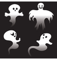 Simple Spooky Ghosts vector image vector image