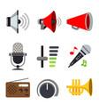 sound audio loudspeaker volume voice music vector image