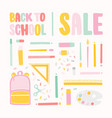 square banner template for back to school sale vector image vector image