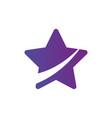 star icon cur in half leader winner boss rank vector image vector image