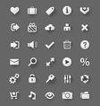 web design white buttons set vector image vector image