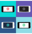 Web Template of Smartphone Video Form vector image vector image