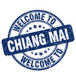welcome to chiang mai vector image vector image