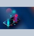 wi-fi smartphones security controls futuristic vector image vector image