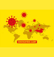 world map with highlighted china map vector image