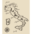 Italian old map sketch vector image