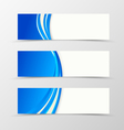 Set of header banner dynamic design vector image