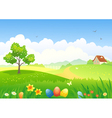 Easter countryside vector image