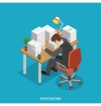 Paperwork isometric flat concept vector image