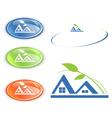 cottage or camping emblem vector image