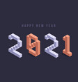 2021 new year isometric art minimal 2021 holiday vector image vector image