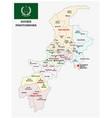 administrative map khyber pakhtunkhwa pakistan vector image vector image