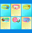 advertisement banners springtime concept vector image vector image