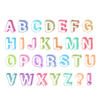 Alphabet set 3d form vector image