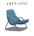 armchair in color loft in interior design eps 10 vector image vector image