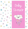 baby shower invitation card vector image