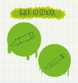 Back to school design vector image