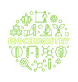 biochemistry concept outline green round vector image vector image