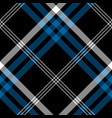 black check pixel square seamless diagonal fabric vector image