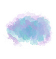 blue and purple watercolor painted stain isolated vector image