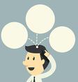 businessman have idea on head vector image