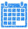 calendar appointment grunge icon vector image vector image