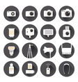 Camera Photography Flat Icons Set vector image