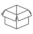 cardboard box cartoon vector image